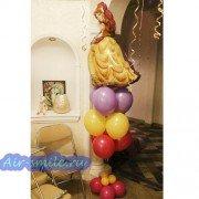 Композиция из шаров с принцессой Белль