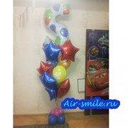 Композиция из шариков с цифрой на День Рождения