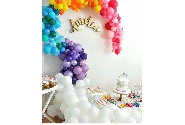 Разнокалиберная арка из шаров радуга