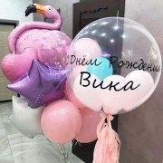 """Композиция из шаров """"Фламинго в моём сердце"""""""