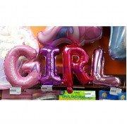 """Набор фольгированных букв слово """"GIRL"""""""