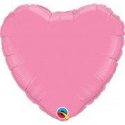 Фольгированное сердце металлик розовое