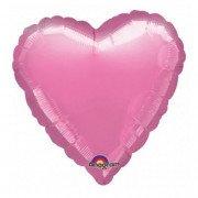 Фольгированное сердце металлик сиреневое
