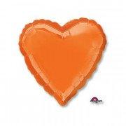 Фольгированное сердце оранжевое