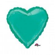 Фольгированное сердце Teal