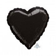 Фольгированное сердце черное