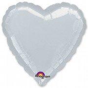 Фольгированное сердце серебро