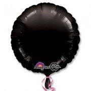 Фольгированный круг черный