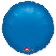 Фольгированный круг синий
