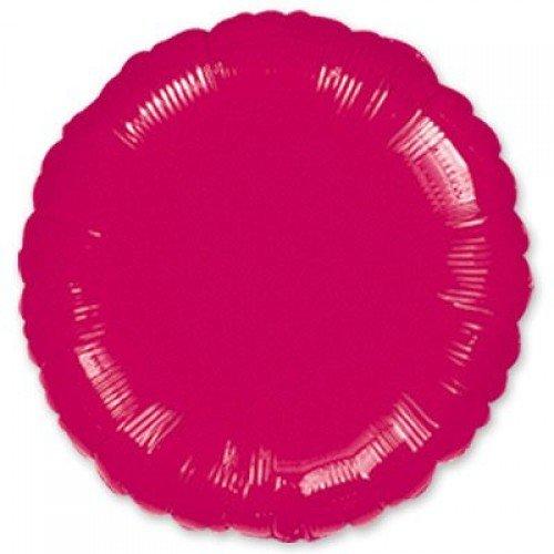 Фольгированный круг винного цвета