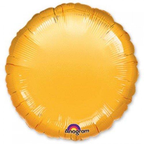 Фольгированный золотого цвета круг