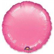 Фольгированный круг насыщенно розовый