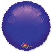 Фольгированный круг фиолетовый
