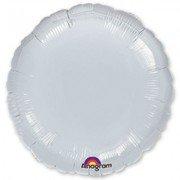 Фольгированный круг серебро