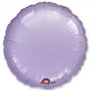 Фольгированный круг лиловый