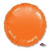 Фольгированный круг оранжевый