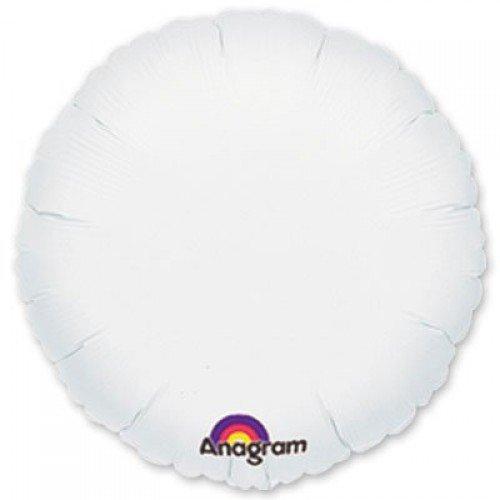 Фольгированный белого цвета круг