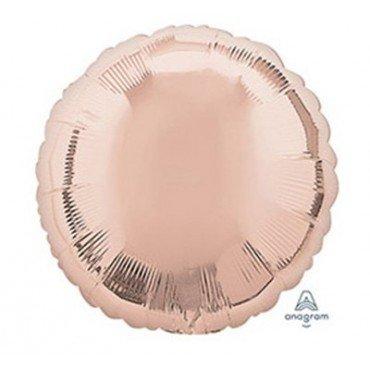 Фольгированный круг розового золота цвета