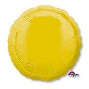 Фольгированный круг желтый