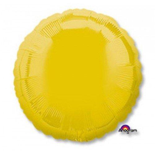 Фольгированный желтого цвета круг