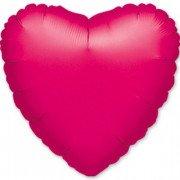 Фольгированное сердце малиновое