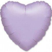 Фольгированное сердце пастель сиреневое