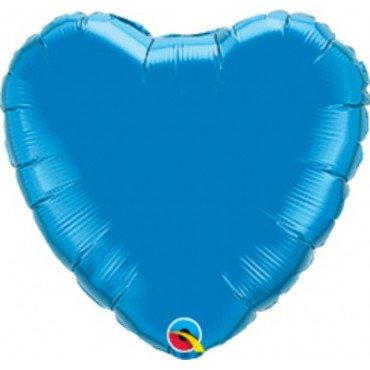 Сердце фольгированное синего цвета