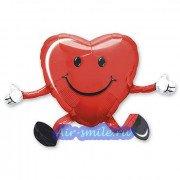 Ходячий шар сердце с улыбкой