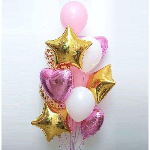 Букет из шаров для девушки на день рождение