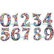 Фольгированные цифры голографические и переливающиеся