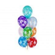 Гелиевые шарики с рисунком Звёздочек металлик