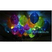 Светящиеся шары с днем рождения и ромашки