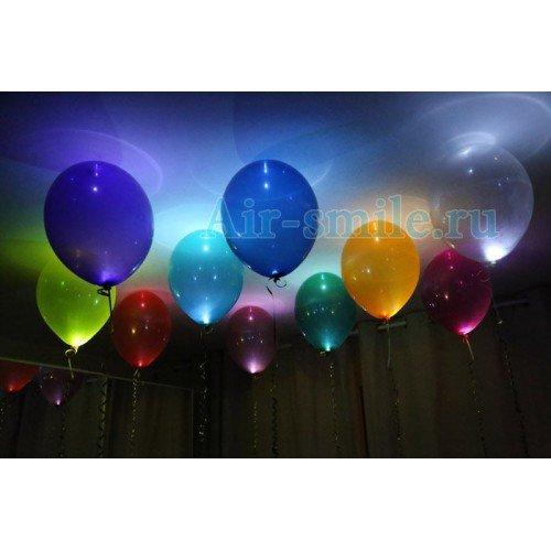 Светящиеся шары под потолок кристалл