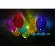 Светодиодные шары кристалл с днем рождения