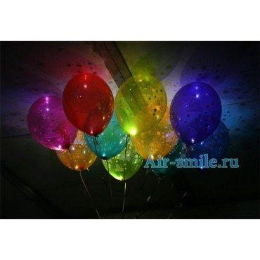 Светящиеся шары с днём рождения и ромашки кристалл