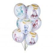 Белые шары с рисунком «Малыш и Карлсон