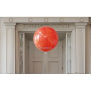 Большой шар агат оранжевый