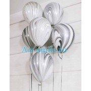 Гелевые шарики агаты черно-белые