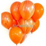 Гелевые шарики агаты оранжевые