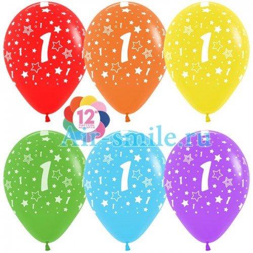 Гелиевые шары с цифрой 1