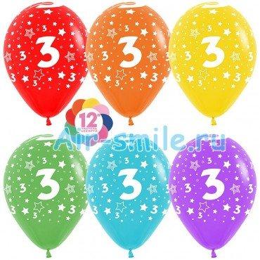 Гелиевые шары с цифрой 3