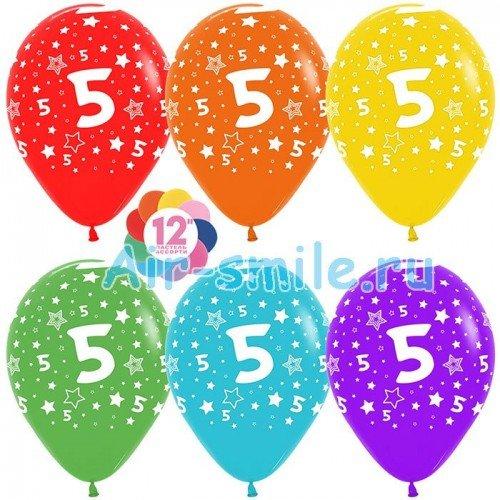 Гелиевые шары с цифрой 5