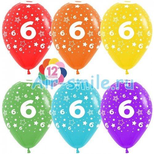 Гелиевые шары с цифрой 6