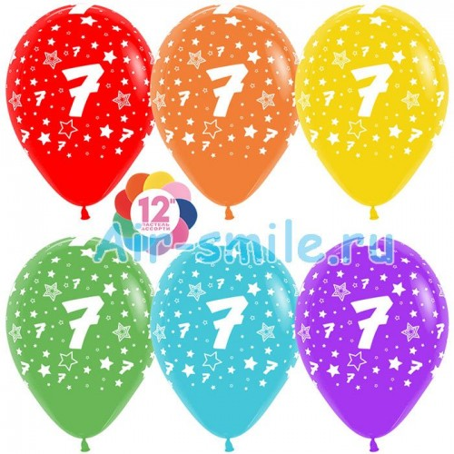 Гелиевые шары с цифрой 7