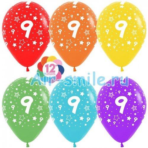 Гелиевые шары с цифрой 9