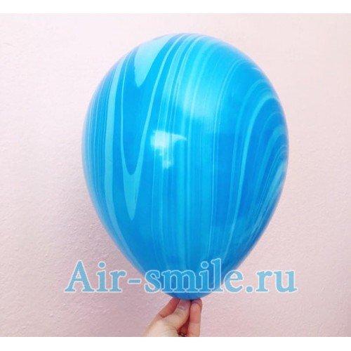 Воздушный шар агат синего цвета