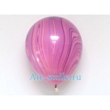 Воздушные шары агаты сиреневого цвета