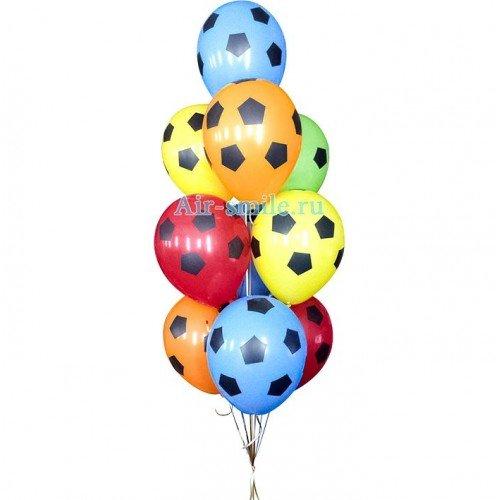 Шарики для мужчины с футбольными мячами