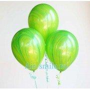 Гелевые шарики агаты зеленые