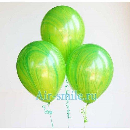 Шар агат зелёного цвета